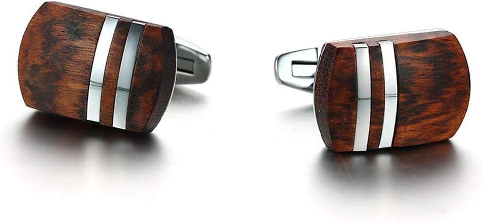 DRHYSFSA-Jewellery Gemelos Mancuernas de Acero Inoxidable for Hombre de Palisandro Camisa de Esmoquin Gemelos de Negocios Formales for Bodas Regalo para Hombres Mujeres: Amazon.es: Hogar