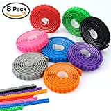 Toys : Lego Tape, VERONES 8 Rolls Loops Building Lego Tape(1 Meter/Roll) Multicolor Silicone Non-Toxic Safe Tapes with Reusable Self-Adhesive Strips as Brick Base Plates for Lego Toy Building Block