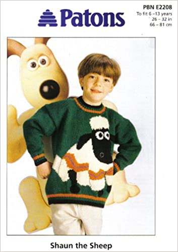 Patons Childrens Wallace And Gromit Shaun The Sheep Motif Sweater