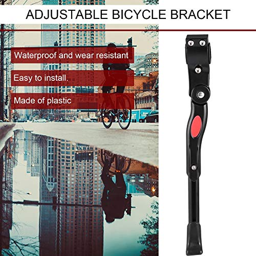 ClookYuan Support de Bicyclette lat/éral Kickstand Alliage daluminium r/églable Universel Support de stationnement de v/élo de v/élo de Montagne Support de Bicyclette de Montagne Noir
