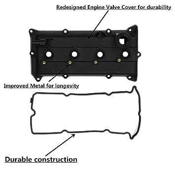 Amazon.com: KONDUONE Cubierta de la válvula del motor Junta ...