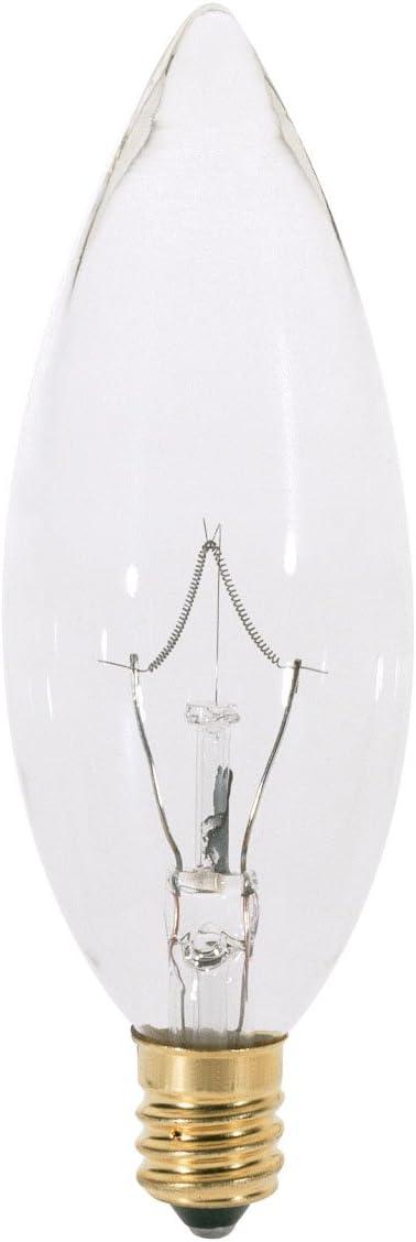 Satco A3682 130v Candelabra Base 25 Watt B9 5 Light Bulb Clear Led Household Light Bulbs