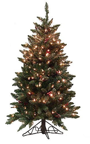 vickerman pre lit frosted edina slim artificial christmas tree with clear lights 45 - How To Fix Pre Lit Christmas Tree Lights