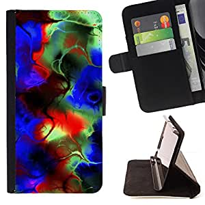 Jordan Colourful Shop - Abstract Psychedelic Colors For Sony Xperia Z1 L39 - < Leather Case Absorci????n cubierta de la caja de alto impacto > -