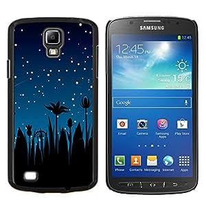 Cubierta protectora del caso de Shell Plástico    Samsung Galaxy S4 Active i9295    Estrellas del cielo nocturno Blue Stars Shooting palmeras @XPTECH