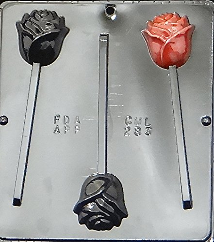 Candy Molds N More Rose Lollipop Chocolate Candy Mold 283