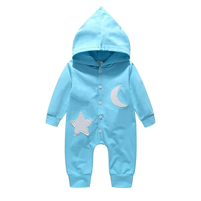 GRNSHTS Baby Boys Girls Romper Snap Long Leeve Hooded Jumpsuit 31897