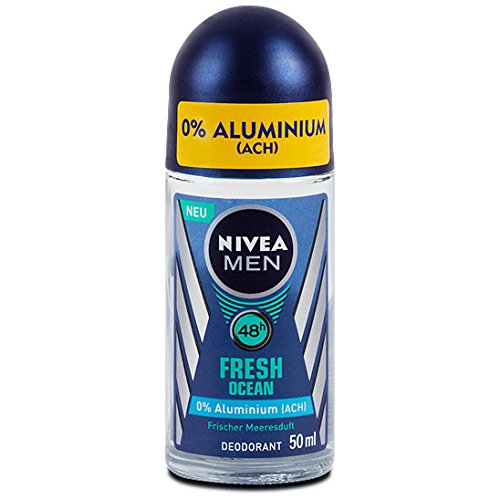 Nivea Men Fresh Ocean Aluminum Free 48h Deodorant Roll-On 50 ml / 1.7 fl oz