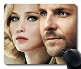 Custom Amazing Mouse Pad with Serena George Pemberton Jennifer Lawrence Bradley Cooper Non-Slip Neoprene Rubber Standard Size 9 Inch(220mm) X 7 Inch(180mm) X 1/8 Inch(3mm) Desktop Mousepad Laptop Mousepads Comfortable Computer Mouse Mat