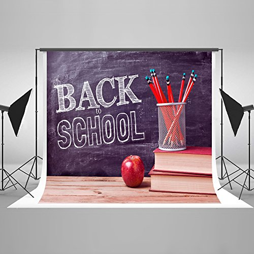 10x6 5ft kate back to school photo backdrops for photographers red
