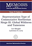 Representation Type of Commutative Noetherian Rings III, Lee Klingler and Lawrence S. Levy, 0821837389