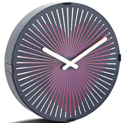Betus 12 Inches Non-Ticking Optical Illusion Wall Clock - Animated Zoetrope Wall Clock for Office, Bedroom and Living Room - Battery Operated - Pounding Heart