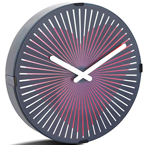 - Betus 12 Inches Non-Ticking Optical Illusion Wall Clock - Animated Zoetrope Wall Clock for Office, Bedroom and Living Room - Battery Operated - Pounding Heart