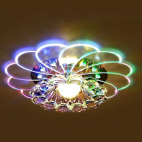 Zehui LED Ceiling Lamp for Hallway Bedroom Kitchen Decor Modern Colorful 5W Crystal Chandelier by Zehui (Image #6)