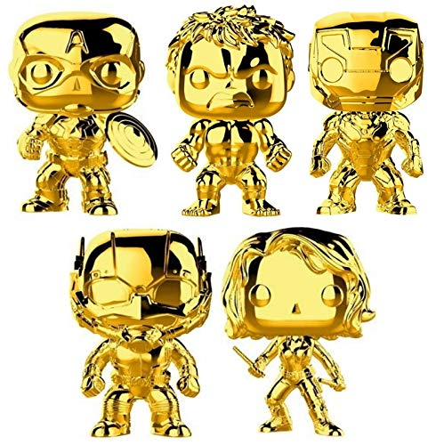 Funko Pop! Marvel: Marvel Studio 10 Gold Chrome Vinyl Figure Collection #1, 3.75