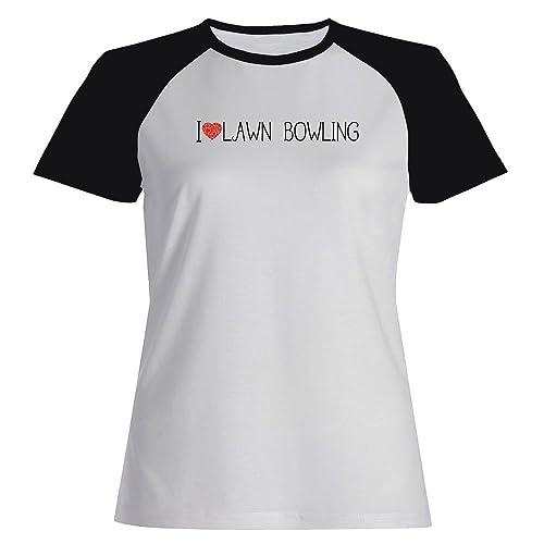 Idakoos I love Lawn Bowling cool style – Sport – Maglietta Raglan Donna