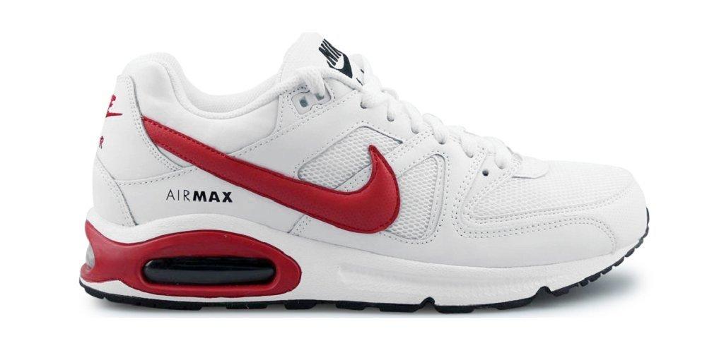 NIKE Air Max Command Sneaker White/Red, EU Shoe Size:EUR 45