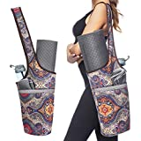 Ewedoos Yoga Mat Bag Large Size Pocket Zipper Pocket, Fit Most Size Mats