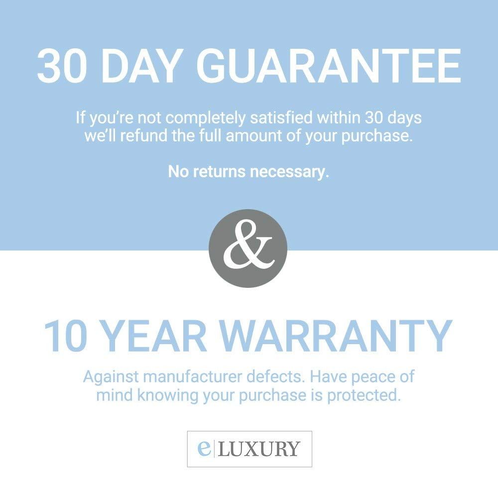 eLuxurySupply Hypoallergenic Waterproof Mattress Protector Breathable Terry Cotton Fitted Cover 10 Year Warranty Queen Protect Your Bed with Easy Cleanup