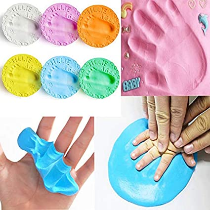 Blue Baby Inkless Pad For Footprints Hand Prints And Fingerprints Kit With Extra Imprint Cards Perfect Keep Memory Shower Gift Footprint Btruely Imprint Casting Fingerprint
