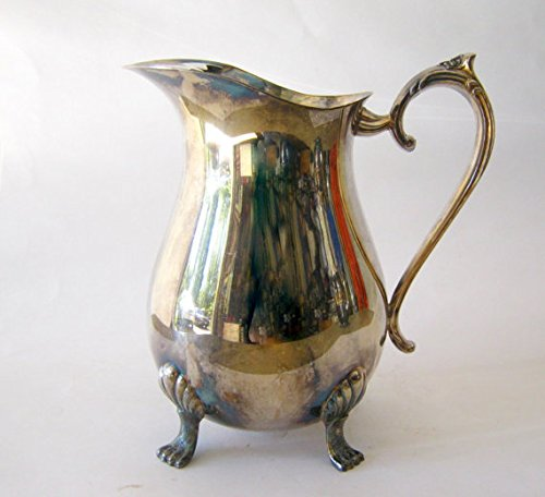 - Vintage Leonard Silverplate Claw Footed Pitcher with Ice Lip Guard