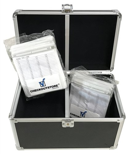CheckOutStore Black Aluminum CD/DVD Hanging Sleeves Storage Box (Holds 200 Discs) ()