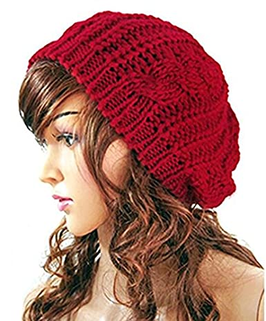ArRord Women Winter Warm Hat Lady Beret Hat Lady Braided Crochet Knitting Beanie Cap Arrcberhat01