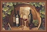Winery Kitchen Decor At the Winery by Albena Hristova Grape Wine Still Life Kitchen Wall Art Print Framed Dcor