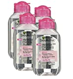 Cleansing Face With Just Water - Garnier Skin Active Micellar Cleansing Water, All-in-1, For All Skin Types, Travel Size, 3.4 Ounce, (4 Pack)