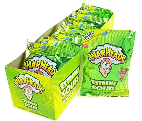 (Warheads Mega Extreme Sour Hard Candy 1-Ounce Packs (Pack of 12))