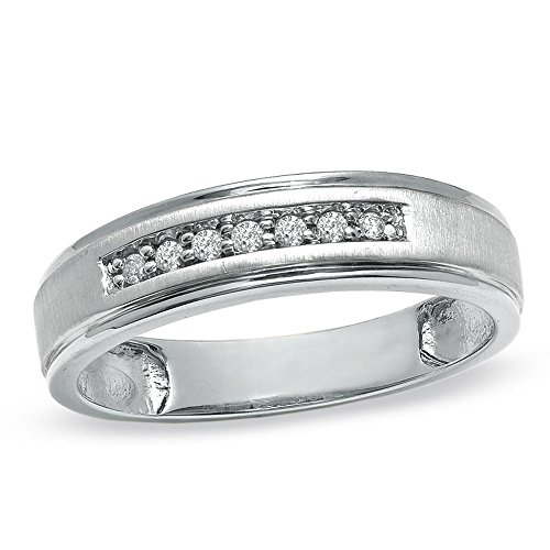 Silvercz Jewels 14K White Gold Over Sterling Ladie'sAccent Wedding Band Ring 0.25 Cts D/VVS1 CZ by Silvercz Jewels