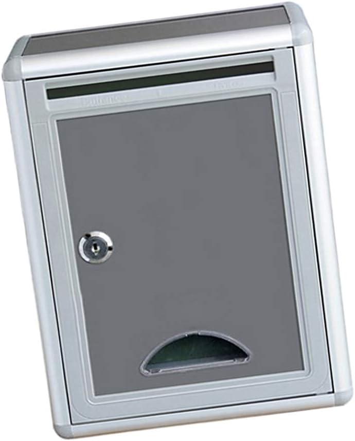 Sharplace Buzón Americano Caja de Correos Exterior Caja de Seguridad Bloqueo Hierro para Villa Puerta