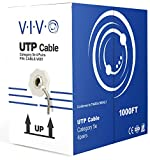VIVO 1,000 ft bulk Cat5e Ethernet Cable/Wire UTP Pull Box 1,000ft Cat-5e Style Grey (CABLE-V001)
