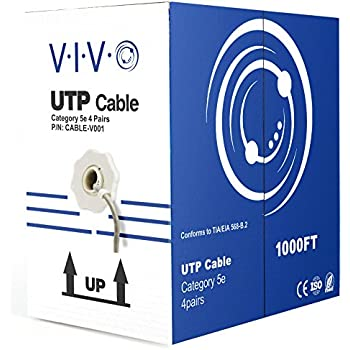 Amazon.com: VIVO 500 ft Bulk Cat5e Ethernet Cable CABLE-V002 ... on tia/eia-568, crossover cable, usb microphone wiring, networking cables, modular connector, home ethernet wiring, optical fiber cable, ethernet connection to printer, ethernet wiring t568b, category 3 cable, patch panel, network switch, ethernet cat, patch cable, ethernet b standard wiring, ethernet wiring pinout, ethernet switch wiring, coaxial cable, ethernet plug wiring, ethernet repeater product, ethernet jack wiring, cat5 connector wiring, ethernet parts, ethernet connector pinout, ethernet end wiring, house wiring, shielded cable, category 6 cable, power over ethernet, cat 5 wiring, 1602 lcd wiring, network interface controller, ethernet hub, ethernet frame, plenum cable, ethernet from 1983,