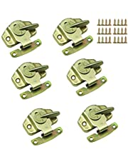 Mazaashop Metal Table Locks Dining Training Table Buckles Connectors Table Leaf Hardware Accessories Iron Color-zinc Plating 6PCS
