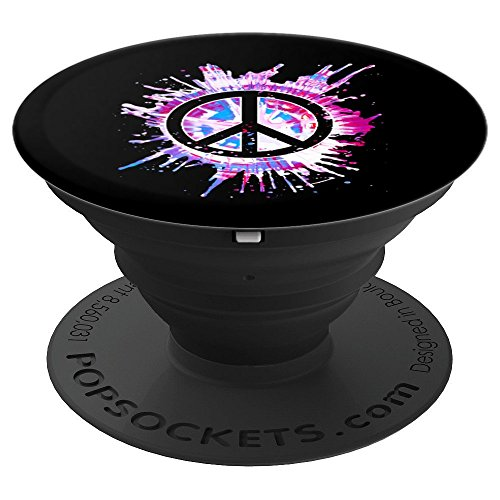 (Tie Dye Peace Sign Paint Splatter - PopSockets Grip and Stand for Phones and Tablets)