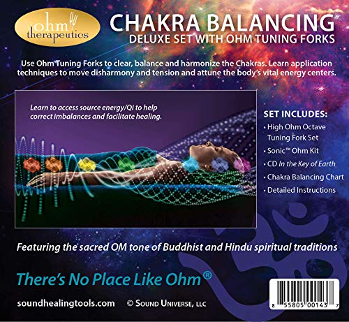 Chakra Balancing with Sound Multiple Octave Ohm Tuning Fork Set for Energy Practitioners & Sound Therapy (272.2 + 544.4 + 1088.8 hz)