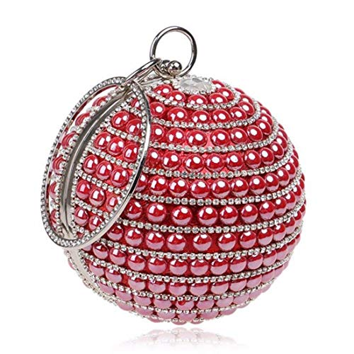 Sac Red Main Perlée En De À Cijfay color Colorful Strass Mariage d1Hxdg