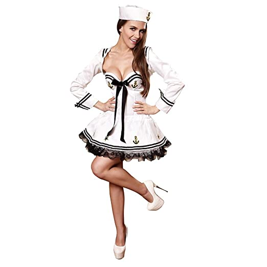 KAIDILA Erótico Uniforme Marinero Marina Mujer Halloween Traje ...