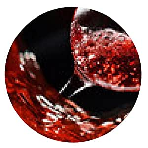alfombrilla de ratón vino rosado - ronda - 20cm