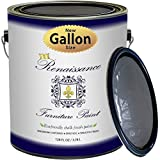 Renaissance Chalk Finish Paint - 1 Gallon - Chalk Furniture & Cabinet Paint - Non Toxic, Eco-Friendly, Superior Coverage - Greystone (128oz)