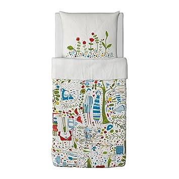 Ikea Bettwäsche Set Eivor Leva 155x220cm Deckenbezug Und 80x80cm