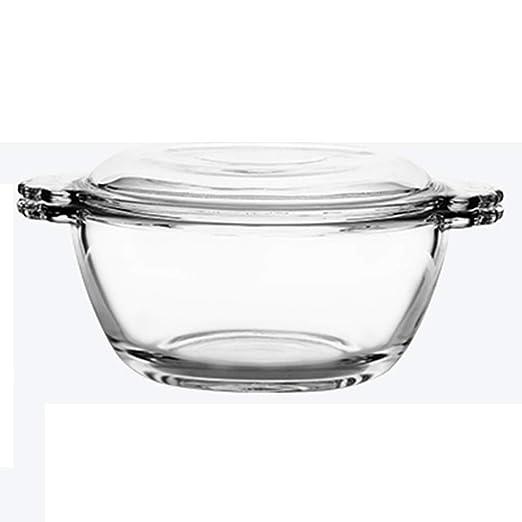 Bowls Cuenco de Vidrio Templado con Tapa Transparente para ...