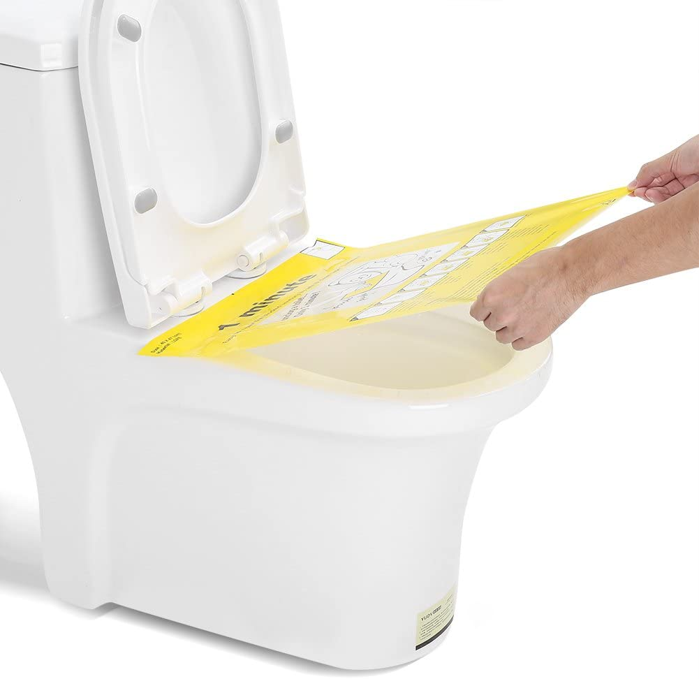 Unclog Toilet Disposable Sticker Film Hygienic Strength No Dirty Dredge WC Paster for Toilet Clogged HEEPDD Toilet Plunger Sticker