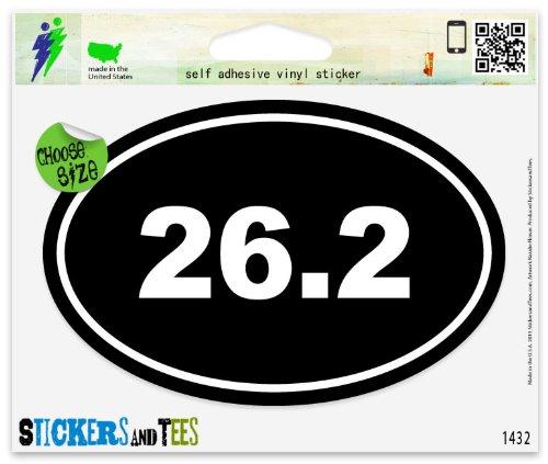 Runner Marathon 26.2 Oval (26.2 Marathon Runner Oval Vinyl Car Bumper Window Sticker 5