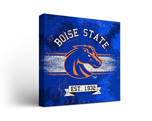 Victory Tailgate Boise State University Broncos Canvas Wall Art Banner Design (12x12)