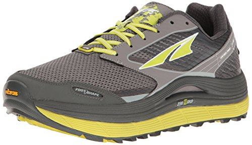 Altra Men's Olympus 2.5 Running-Shoe, Gray/Lime, 11 ()