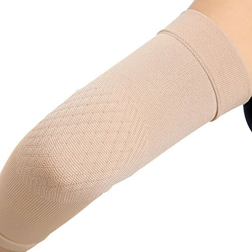 Spotbrace Medical Arm Elbow Brace Sleeve, Thin Elastic Compression Elbow Support Wrap for Men Women Arthritis, Golfers, Tennis, Badminton, Pain Relief Sprain, Muscle Injury, Tendonitis - Nude, 1 Pair by Spotbrace (Image #8)