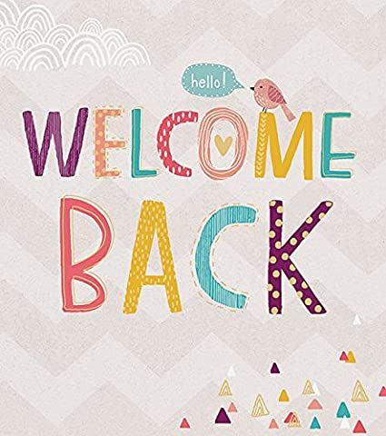 Welcome back card amazon office products m4hsunfo