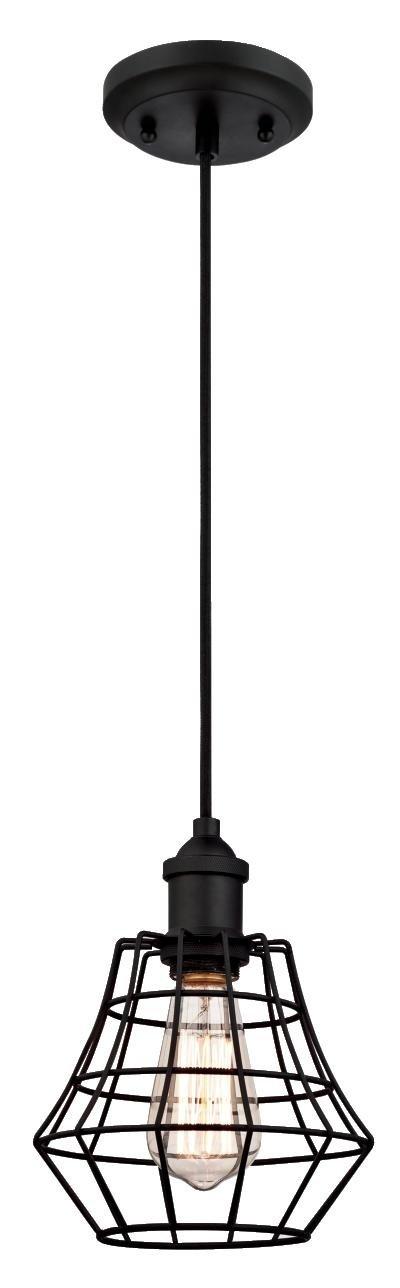 Westinghouse L/ámpara de Techo Colgante de 1 Luz E27 154 cm Negro mate